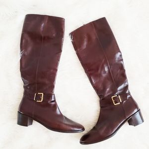 Salvatore Ferragamo Italian Leather Riding Boots
